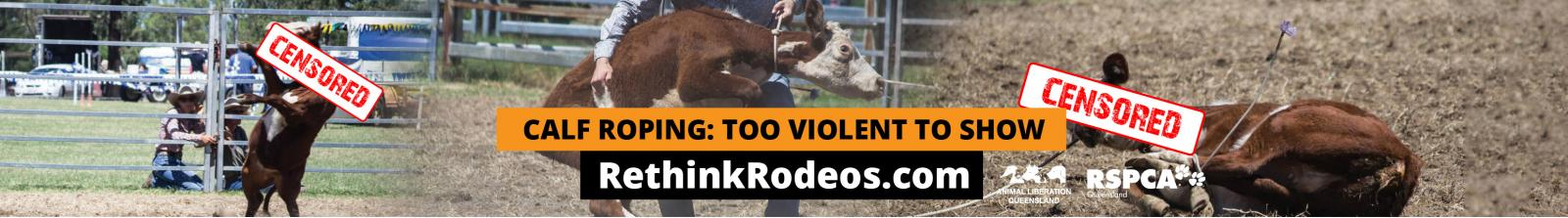 Censored calf roping billboard 2